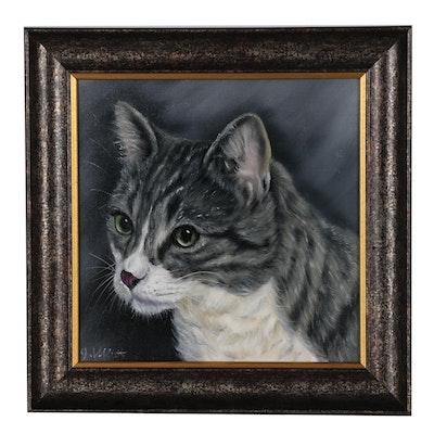 Joseph Veillette Oil Painting of Cat