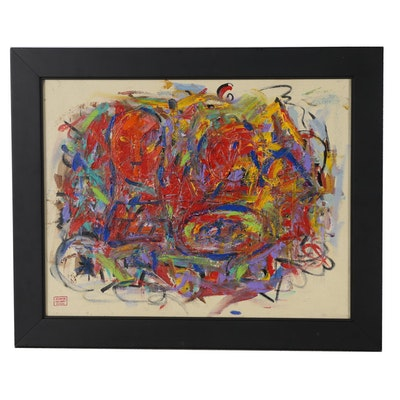 Jacques Colbert Abstract Expressionist Oil Painting