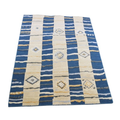 5' x 8' Handwoven Indian Wool Area Rug from The Rug Gallery