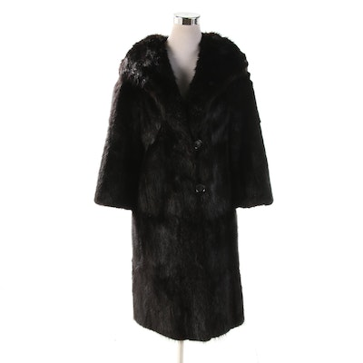 Dyed Nutria Fur Coat from Kolchin and Boxer