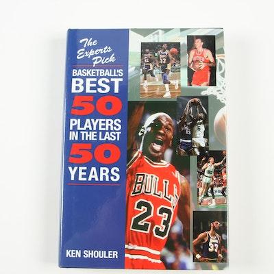 """Signed """"The Experts Pick Basketball's Best 50 Players in the Last 50 Years"""""""