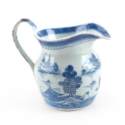 Chinese Canton Porcelain Jug, Late 19th Century