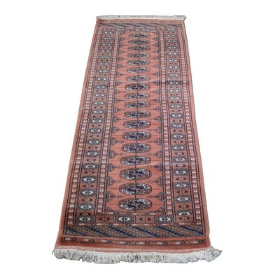 2'2 x 6'6 Hand-Knotted Pakistan Bokhara Wool Runner from The Rug Gallery