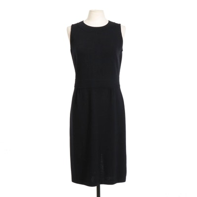 St. John Collection Black Knit Sleeveless Dress