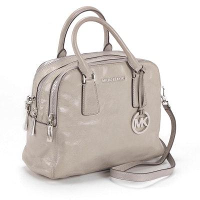 MICHAEL by Michael Kors Grey Leather Convertible Handbag