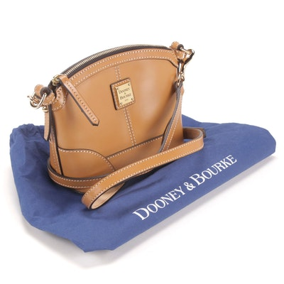 Dooney & Bourke Leather Crossbody Handbag in Camel