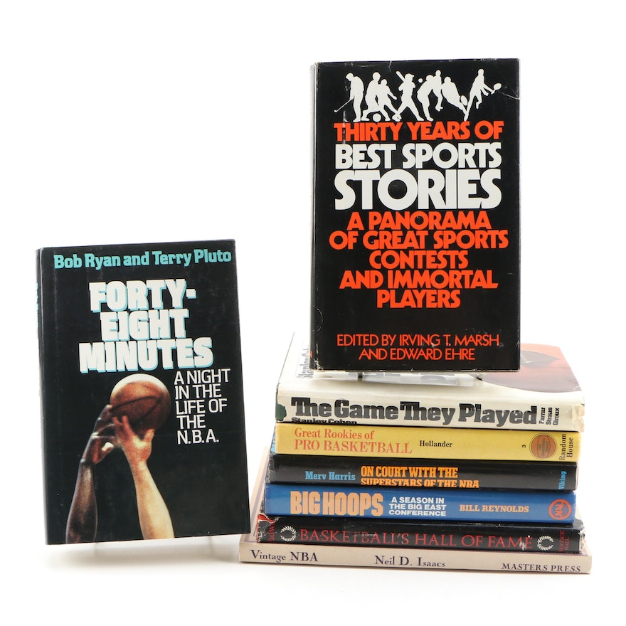NBA and NCAA Basketball Books including First Editions
