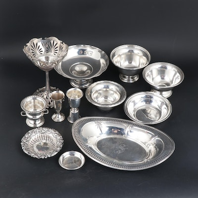 Meriden Brittania Co. and Other Sterling Silver Compotes and Serveware