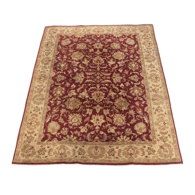 8'8 x 11'1 Hand-Knotted Indian Rug Gallery Wool Room Sized Rug