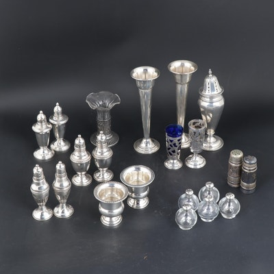 Rogers and Other Weighted Sterling Silver Table Accessories