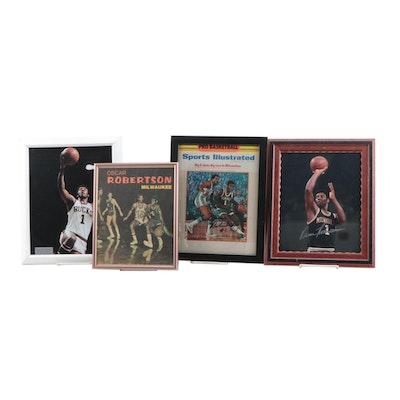 Oscar Robertson Milwaukee Bucks Signed SI Magazine and Framed Photo Print