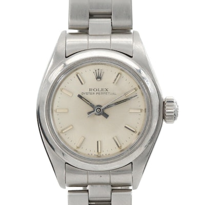 Vintage Rolex Oyster Perpetual Stainless Steel Wristwatch, 1981