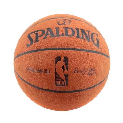 "Spalding New York Knicks ""Official Game-Used NBA Basketball, COA"
