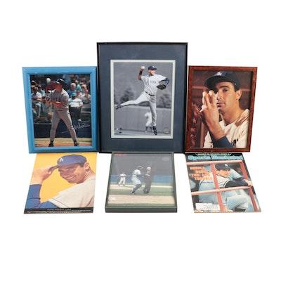 Joe DiMaggio, Mickey Mantle, Derek Jeter, and Sandy Koufax Baseball Collectibles