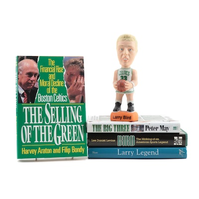 Larry Bird S.A.M.'s Bobblehead with Four Books