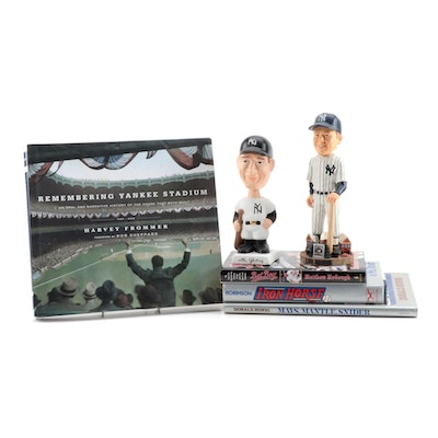 Lou Gehrig Figures with New York Yankee Books