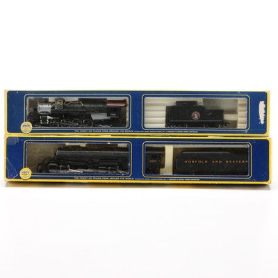 AHM Boxed Model Train Locomotive and Freight Cars, circa 1950s