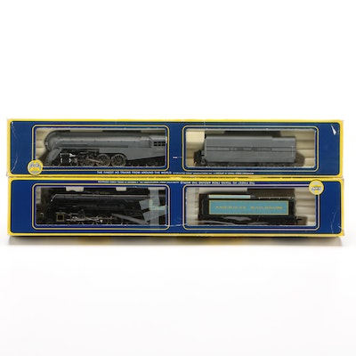 AHM HO Gauge Model Train Engines with Freight Cars in Original Packaging
