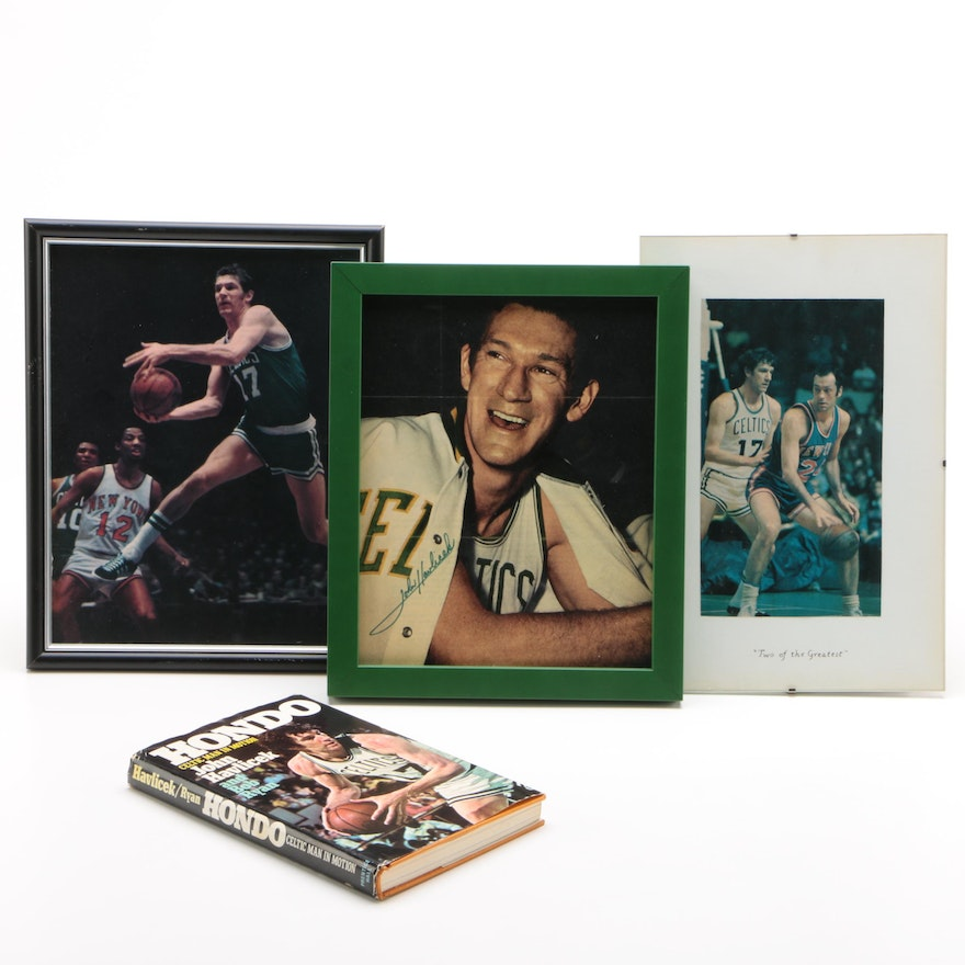 John Havlicek Pictures and a Book, One Signed