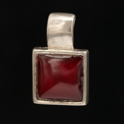 Red Resin Square Pendant