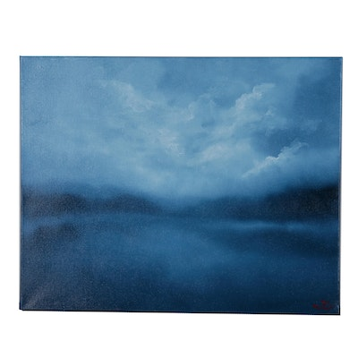 "Sarah Brown Oil Painting ""Nocturne"""