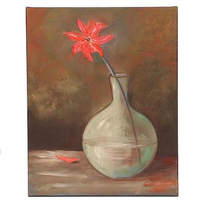 Farshad Lanjani Still Life Oil Painting, 21st Century