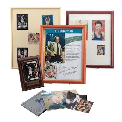 Patrick Ewing, Willis Reed, John Wooden, and Bill Sharman Signed Collectibles