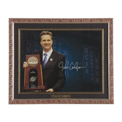 John Calipari Signed 2012 NCAA Champions Trophy Framed Photo Print