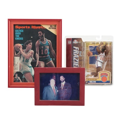 """Walt Frazier Signed Items with a """"NBA Legends"""" McFarlane with Box"""