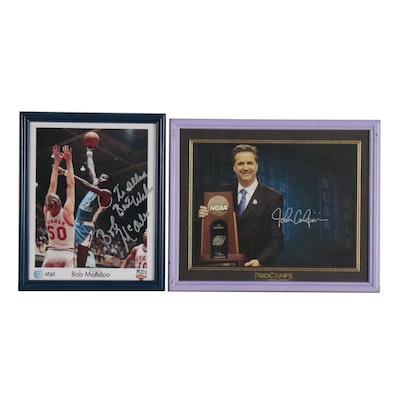 Bob McAdoo and John Calipari Signed Framed NCAA Basketball Photo Prints