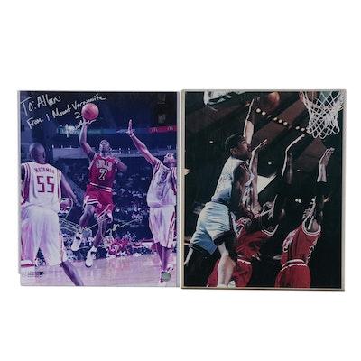 Ben Gordon Signed Chicago Bulls NBA Large Photo Print, Contemporary