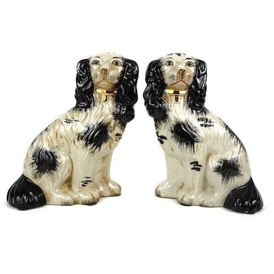 Staffordshire Style Dog Figurines, Vintage