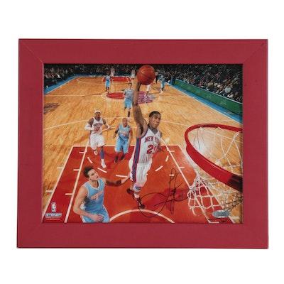 Iman Shumpert New York Knicks Signed NBA Framed Photo Print, Steiner COA