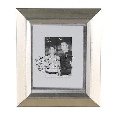 Bobby Knight and Mike Krzyzewski Signed Collegiate Army Basketball Photo Print