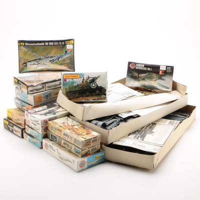Military Themed Model Kits Including German Messerschmidt Aircraft