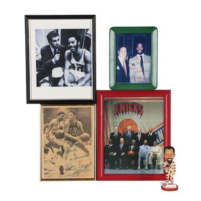 Walt Frazier New York Knicks NBA Collectibles Including Signed Photo Print