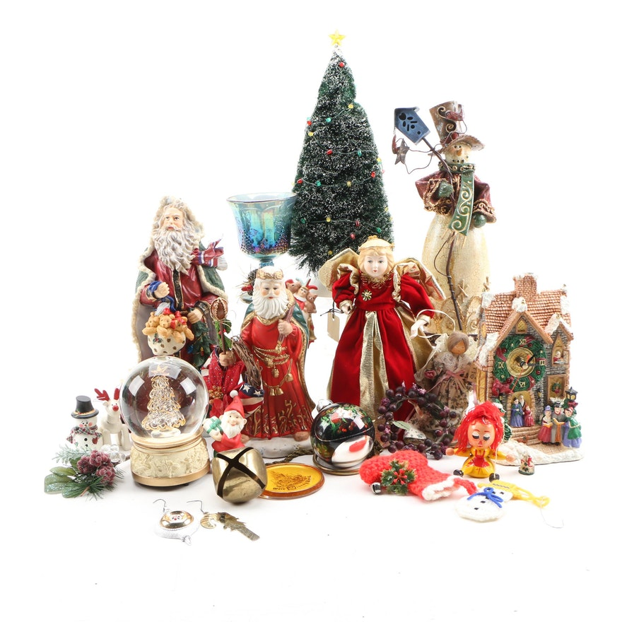 Ornaments, Table Décor, and More Christmas Décor, Late 20th Century