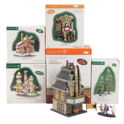 Department 56 Christmas and Halloween Buildings and Town Décor