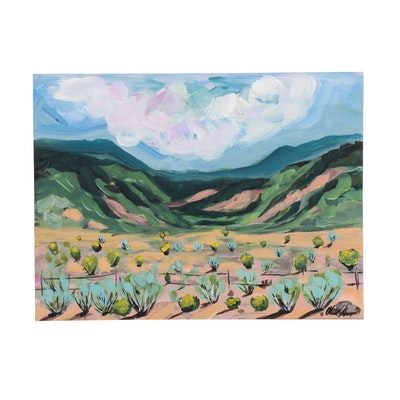 "Chanel Kreuzer Acrylic Painting ""New Mexico"""