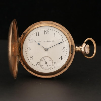 Antique Hampden Gold Filled Hunter Case Pocket Watch, 1907