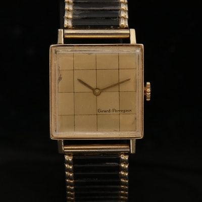 Girard-Perregaux 14K Gold Stem Wind Wristwatch