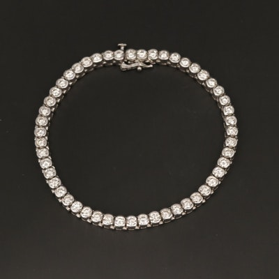18K White Gold 4.90 CTW Diamond Line Bracelet