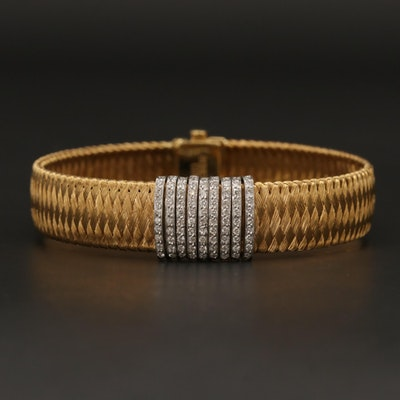 "Roberto Coin ""Silk Weave"" 18K Diamond Bracelet"