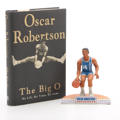 "Oscar Robertson Statue with ""The Big O"" Book"