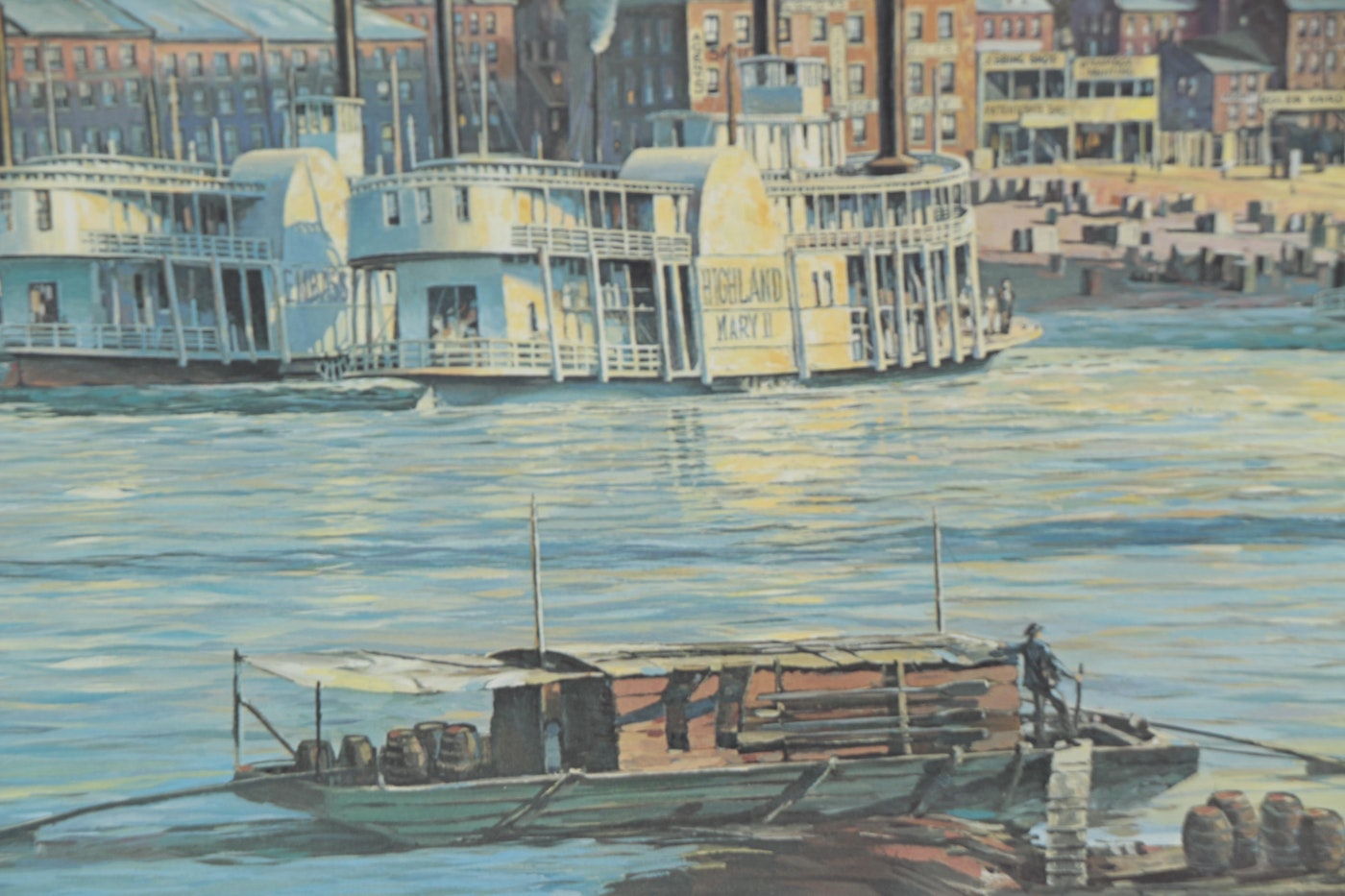 "Michael Blaser Offset Lithograph ""The Public Landing Of"