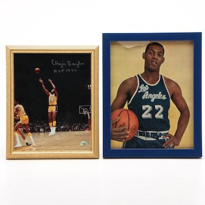 Elgin Baylor Los Angeles Lakers NBA Basketball Collectibles, Signed Photo Print