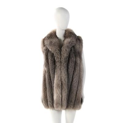 Indigo Fox Fur Vest by Neiman Marcus
