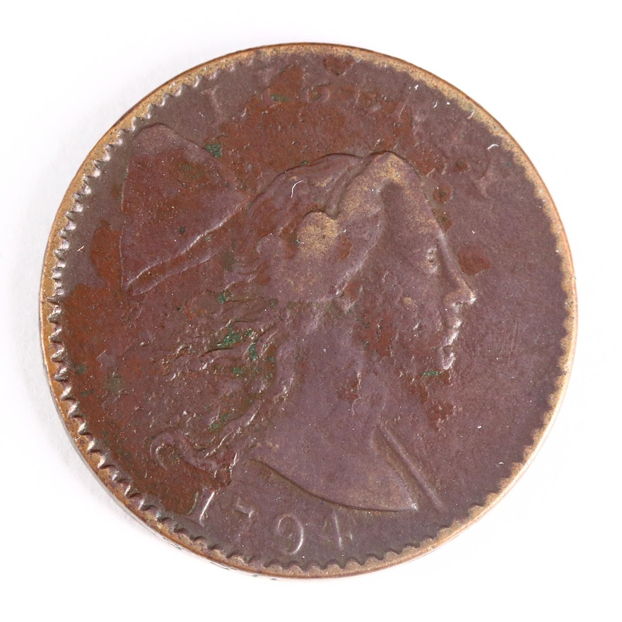 1794 Liberty Cap Head of 1794 Large Cent