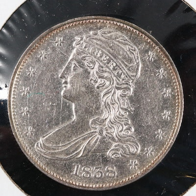 1838 Capped Bust Silver Half Dollar