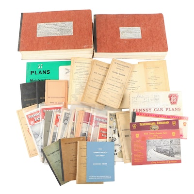 """Pennsylvania Railroad """"Book of Rules"""", """"Time-Tables"""" and Additional RR Booklets"""